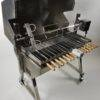 Grecian Rotisserie stainless with lid 14 small skewers one large spit charcoal bbq with grill